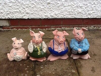 4 x Natwest Wade Pigs with original stoppers in excellent condition