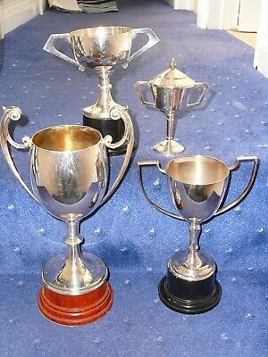 x4 Blank Silver Plate trophies