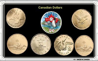 CANADA Olympic Games 7 Coin set Lucky Loonie 2016 coin Plated Rhodium