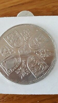 1953 Five Shilling Coin, Crown