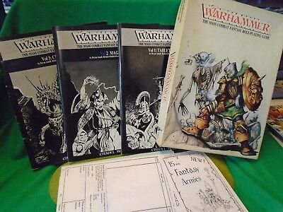 Games Workshop Warhammer mass Combat Fantasy Role playing Game 1982