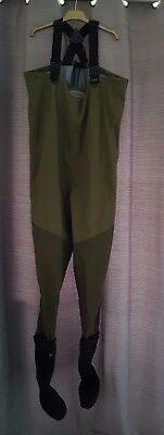 Greys grxi stocking foot breathable waders size medium used twice