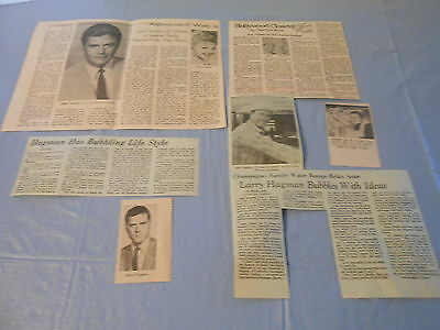 Larry Hagman vintage rare     clippings #G1051