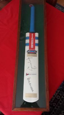 Cased Gray- Nicolls Cricket Bat Autographed By Greg Chappell & Saurav Gangly
