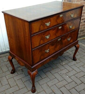 Antique Burr Walnut Chest On Stand,desk,bookcase,draws