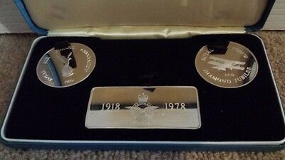 Windsor Mint Limited Edition Silver Ingots.Royal Air Force Diamond Jubilee(100g)