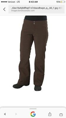 The North Face Womens Apex Ski Pants sz S Brown Lined Softshell Snow Pants