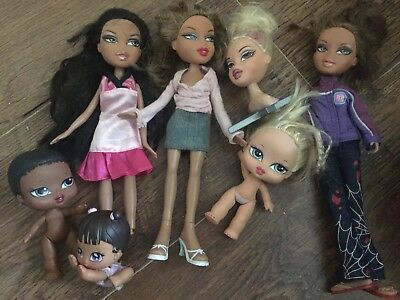 Brats bratz dolls bundle clothes Phoebe Sasha black girls girlz Jade head hair