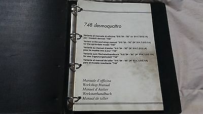 Ducati 748 Desmquattro Strada S.p. Bip. Factory Workshop Manual