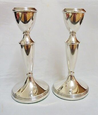 Solid Silver Candlesticks - 1967