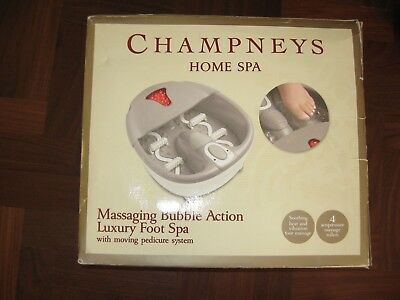 unused gift Champneys massaging bubble action luxury foot spa