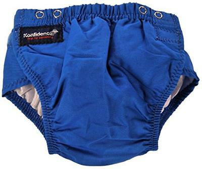 (TG. Small) KONFIDENCE Swim Nappy Fits 3-24 months (Blue) - NUOVO