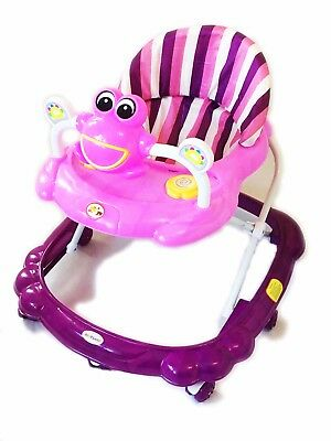 Baby Walker pink Activity First Steps Music Melody Toy Adjustable Bright Smiley