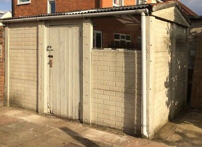 Concrete Sectional Garage 12ft6 X 8ft6 Free To Collector Up And Over Door