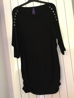 Seraphine Black Maternity Top Size 10