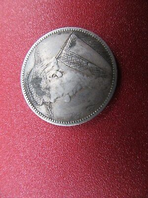 1894 z.a.r. trench art silver shilling