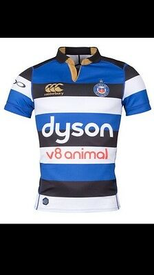 Canterbury Bath 2017/18 Home S/S Players Rugby Test Shirt NEW WITH TAGS!! MED.