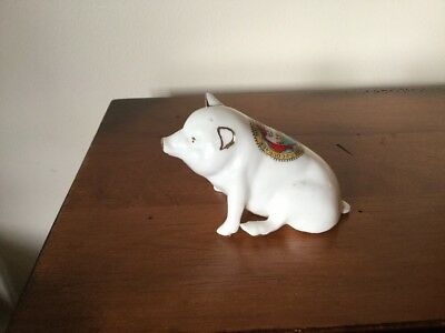 Crested China Pig South Shields Courage Humanity Commerce Always Ready VGC