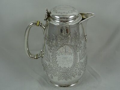 PRETTY, VICTORIAN solid siler JUG, 1878, 425gm