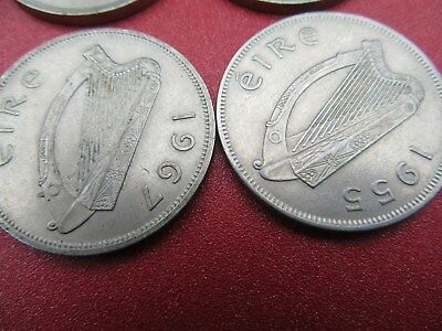1955/59/66/67 irish half crowns better grade