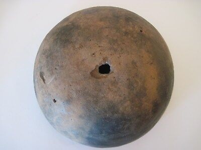 "(AS FOUND) LARGE ANASAZI (8 ½"") MOGOLLON CULTURE PLAINWARE BOWL w/ KILL HOLE"