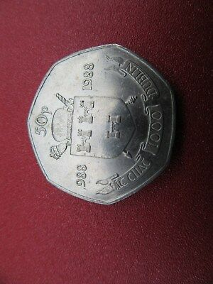 1988 irish 50 pence high grade