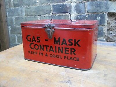 WW2 civilian gas mask container, ARP, Elkes Biscuits