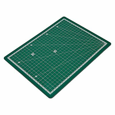 3 PACK A4 Cutting Mats for Sewing, Quilting & Patchworking Green Board Ruler