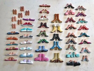 Bratz Girlz Doll Clothes ~ 51 Pairs GIrls Shoes Feet Boots Slippers Sneakers +