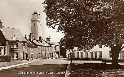 Southwold - East Green & Lighthouse - Real Photograph