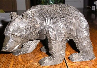 Vintage Hand Carved Wooden Black Bear