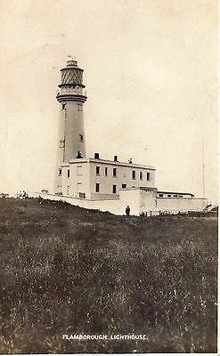 Flamborough Lighthouse East Yorkshire B&W postcard