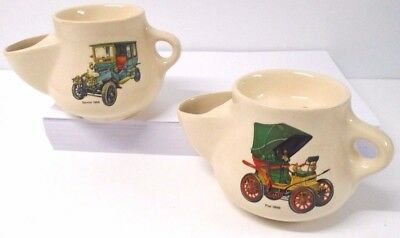 Purbeck ceramics Swanage Dorset  two vintage collectable shaving mugs