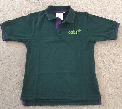"""Cubs Polo Neck T-Shirt 26""""- cubs scouts outfit"""
