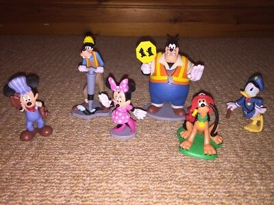 Mickey Mouse Clubhouse Disney Store Exclusive  6 Piece Road Work Figures