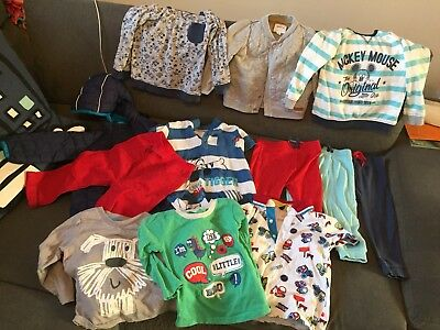 Bundle Of Baby Boys Clothes 9-12 Months To 18-24 Months.