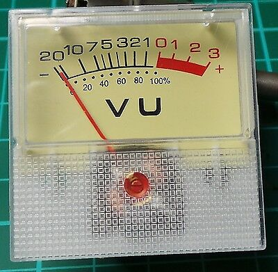 40mm x 40mm Analogue VU Meter 500uA, 1 - 25 pcs