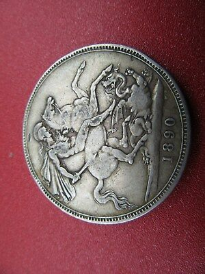 1890 victorian silver crown better grade