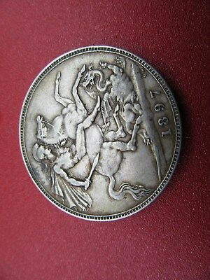 1897 victorian silver crown better grade