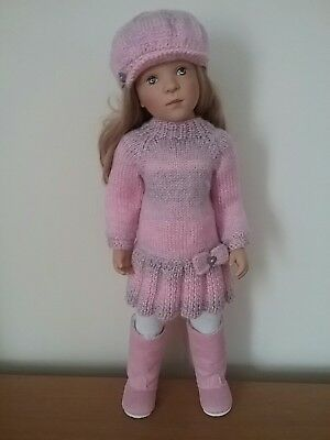 Gotz, Sylvia Natterer Dolls. Hand Knitted Sweater Dress Set.