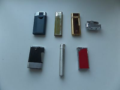 7  Vintage Lighters ,crown,ronson,colibri,canary