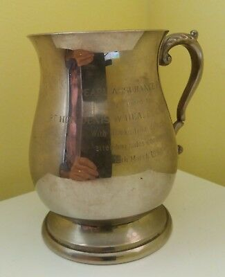 Pewter Tankard presented to Denis Healey from Pearl Assurance