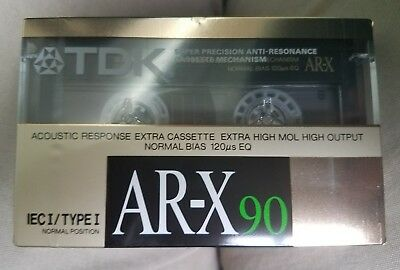 RARE NEW & SEALED~TDK AR-X 90 ©1988 BLANK CASSETTE TAPE TYPE I~Made in W.Germany