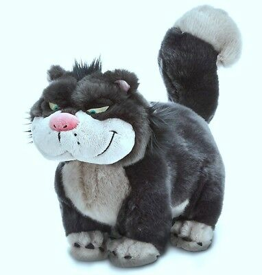 "Disney Store Lady Tremaine Cat Lucifer Soft Plush Medium Toy 16"" Long"