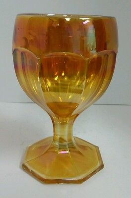"""Imperial Marigold Carnival Glass Colonial Goblet 5.25"""""""