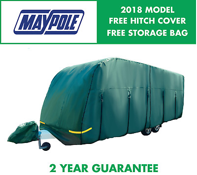 Maypole Premium 4-Ply Breathable Green Full Caravan Cover - Fits 17-19ft MP9533