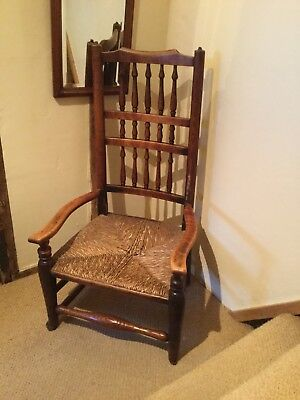Genuine rush seated country arm chair in orginal condition