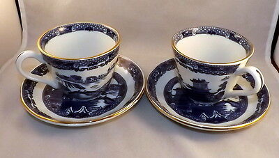 Ringtons Willow Pattern , 2 x Cup & Saucer - by Wade