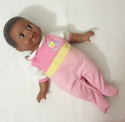 "Little Mommy Fisher Price Black Baby Doll Brown Eyes Front Teeth 2004 14"" RARE"