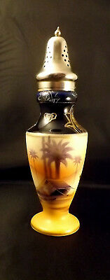 Japanese Hand Painted & Signed Sugar Sifter - Silver Plated Top C1920